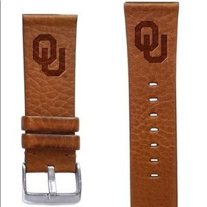 Oklahoma Sooners 18,20,22mm Leather Watchband